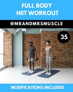 Full Body Workout – Dumbbell Routine Full Body Workout – Dumbbell Routine,Full Body HIIT Workouts Pin, Share and Try this Full Body Dumbbell Workout with low impact modifications. Find the full workout on our. Sixpack Workout, Full Body Dumbbell Workout, Full Body Hiit Workout, Hitt Workout, Gym Workout Videos, Gym Workouts, At Home Workouts, Workout With Dumbbells, Muscle Workouts