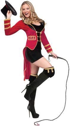 Ring Mistress Costume, Lion Tamer Costume, Women Ring Mistress Costume