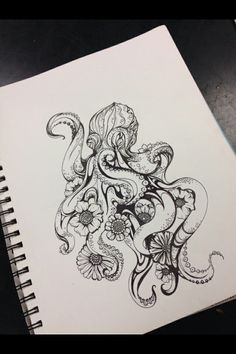this would make a cool henna tattoo. With the flowers and curly birds of the tentacles peeking around the shoulder and the body on the shoulder blade.