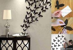 Декор стен в квартире своими руками: как украсить стены в квартире бесплатно. Фото.