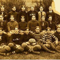 The 1899 football team (then NC A&M) via @PackToTheFuture