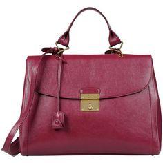 MARC JACOBS Medium leather bag (8.770 ARS) ❤ liked on Polyvore featuring bags, handbags, purses, bolsas, borse, garnet, genuine leather purse, handbags purses, leather man bags and marc jacobs purse
