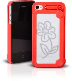 Magic Drawing Case for iphone 4 and 4S. It's like having Etch-A-Sketch with you 24/7 I love it :)