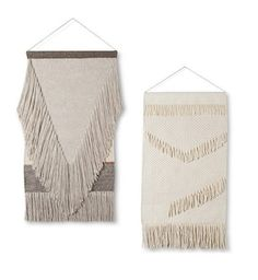 Fringe wall hangings from Target!