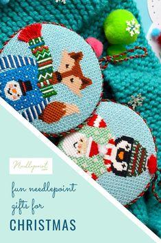 Ice Skates Alice Peterson Stitch-Ups Needlepoint Ornament Kit