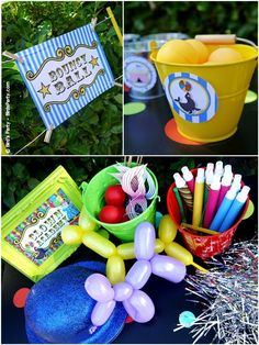Big Top Circus Carnival birthday party ideas with lots of DIY decorations, party printables, sweet party food and favors! Clown Party, Circus Carnival Party, Carnival Birthday Parties, Circus Birthday, Circus Theme, Carnival Games, Birthday Ideas, Carnival Booths, 4th Birthday