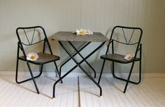 Vintage Industrial Table & Chairs Matching Set  by DivineOrders, $115.00