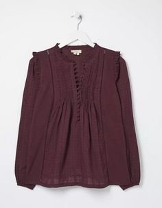 Buy Plum Purple Bonnie Blouson Blouse today from FatFace. FREE UK Delivery on all orders over £50.