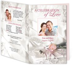 Letter Single Fold : Romance Wedding Program Templates, edits easily and quickly in Word, OpenOffice, Publisher, and Apple iWork Pages.