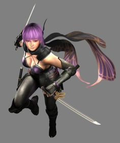 View an image titled 'Ayane Art' in our Ninja Gaiden Razor's Edge art gallery featuring official character designs, concept art, and promo pictures. Video Game Characters, Female Characters, Game Character Design, Character Art, Ninja Games, Female Ninja, Street Fighter Characters, Ninja Sword, Ninja Girl