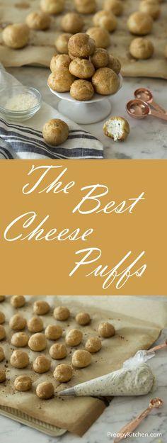 Cheese Puffs via @preppykitchen