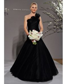 Romona Keveza RK228, Black Wedding Dress
