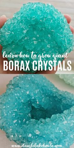 Did you know that you can GROW your own CRYSTALS??? Learn how to make DIY borax crystals and grow crystals with borax onto all kinds of things to make your own crystals. Find the BEST borax crystal recipe and learn why your borax crystals may have failed. Follow my steps to make the BIGGEST and SPARKLIEST DIY crystals! You'll love this borax crystals project - it's so fun to do with kids. How to make borax crystals with your kids or friends. Growing borax crystals is fun and easy to do! Crayon Crafts, Felt Crafts, Easy Crafts, Diy And Crafts, Crafts For Kids, Paper Crafts, Grow Your Own Crystals, Growing Crystals, Borax Crystals