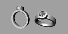 Series 15 Ring revised for 6 mm stone