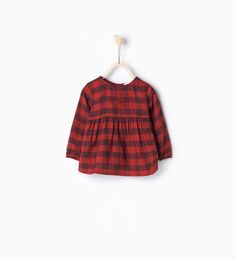 Pinterest: amyhigs  • Image 1 of Embroidered check blouse from Zara
