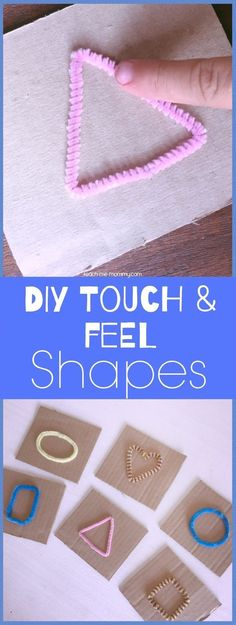 Touch and Feel Shapes! DIY cards for fun learning with toddlers.