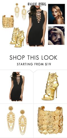 """Untitled #58"" by justbecause244 ❤ liked on Polyvore featuring Giuseppe Zanotti, Dolce&Gabbana and Aurélie Bidermann"