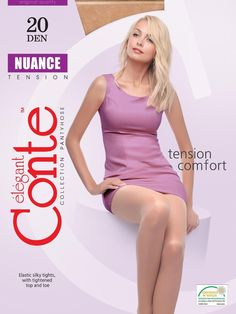 CONTE Women's Tights Elastic Yarns NUANCE 20 Den pantyhose