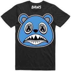 ab50420eeb2e83 UNC BAWS Black Sneaker Tees Shirt