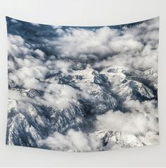 Tapestry Clouds Mountains Wall Hanging by LocationPhotography  -- Join DigiColorCreations.com today and make custom-designed items for your Etsy shop!