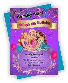 PRINTABLE Barbie Birthday Party Invitation Barbie by TAGSRUSCANADA