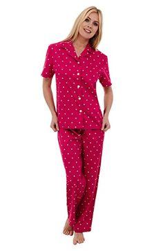Sunrise Women's Short Sleeve Classtic Satin Pajama Set (M ...
