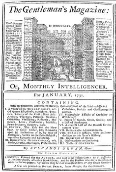 Gentleman's Magazine (Age of Enlightenment) Age Of Enlightenment, Image Boards, 17th Century, Knowledge, History, World, January, Plays, Countries