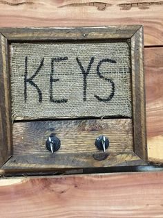 Key Holder, Rustic Sign,  Farmhouse Decor, Perfect Housewarming Gift, by MaggieBleus on Etsy