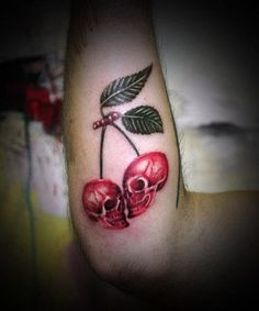 This is amazing! Cherry skulls :)
