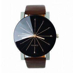 Women Watches Fashion Round PU Leather Band Quartz Wrist Watch Mens Gifts dignity New Arrival #Affiliate