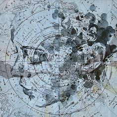 Die Milche-Strasse (The Milky Way), pencil on a German celestial star chart Picture: ED FAIRBURN /