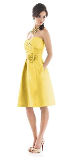 #Yellow bridesmaid dress (Dessy - Alfred Sung)