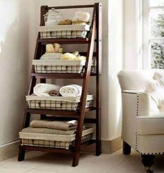 ladder shelf bathroom storage