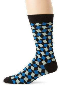 K. Bell Socks Men's 3d Squares, Black/Blue, 10-13 K. Bell. $8.00. Machine Wash. 60% Cotton/38% Polyester/2% Spandex. Fun and trendy. Unique designs