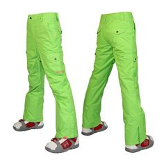 88.90$  Buy here - http://alivjx.worldwells.pw/go.php?t=32284579745 - 2016 winter ski pants women green snow pants snowboard overalls pants pantalon de ski pour femme XS S M L