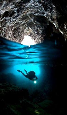 Sea Cave.. Agia Kyriaki ~ Trikeri (Pagasetic Gulf), Greece | by Nicholas Samaras