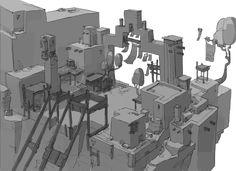 ArtStation - Windlands Flying Market Concepts, Friedemann Allmenroeder