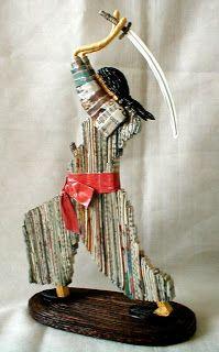 Samurai. Imagem de 27 de altura e 15 de base.