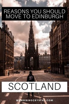 Looking at moving to Scotland? Here are 23 reasons you should move to Edinburgh. Moving to Edinburgh Scotland, pros and cons of living in Edinburgh, reasons to live in Edinburgh, expats in Scotland, moving to Scotland, wandering crystal, living abroad in Scotland, moving to Scotland from Canada, why Edinburgh is a great place to live, how to find a flat in Edinburgh, living in a city with a castle, moving to Scotland from US #Edinburgh #Scotland #Expat #LivingAbroad #wanderingcrystal Edinburgh Travel, Edinburgh Castle, Edinburgh Scotland, Moving To Scotland, Scotland Travel, Scott Monument, Walkable City, Alberta Travel, Working Holiday Visa