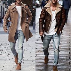 Mens Fashion Smart – The World of Mens Fashion Winter Outfits Men, Stylish Mens Outfits, Style Masculin, Herren Outfit, Mens Fashion Suits, Gentleman Style, Men Dress, Winter Fashion, Men Casual