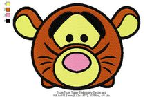Tsum Tsum Tigger Embroidery Design 2 Sizes and 10 Formats  This listing is for a digital file to be embroidered. You will need an embroidery