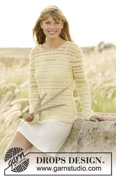 Daniella Jumper by DROPS Design. Free #crochet pattern