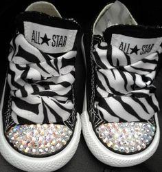 728df72ca8b2 Bling Converse-Zebra bling converse-Bling kid shoes on Etsy