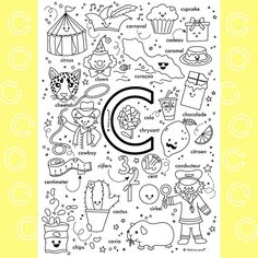 Busy Boxes, Teaching Letters, Preschool Worksheets, Spelling, Literacy, Coloring Pages, Lettering, Alphabet, Carnival
