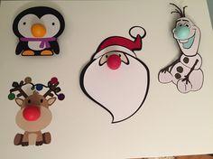 Made using Cricut Explore with Cricut Design Space subscription. Eos lip balm holders: Penguin - Medicated Tangerine Santa - Pomegranate Raspberry Olaf - Sweet Mint Reindeer - Summer Fruit