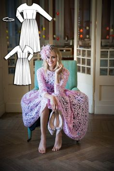 Vintage Grace Dress #V4 http://www.burdastyle.com/pattern_store/patterns/grace-dress?utm_source=BurdaStyle&utm_medium=bs&utm_campaign=bsttbl130415exclusivevintagecollection-gracedress