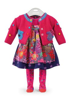 #Catimini Fall 2013 Baby Girls - lively mixed prints and quality design/fabrication make for baby clothes that be in style for many seasons to come.