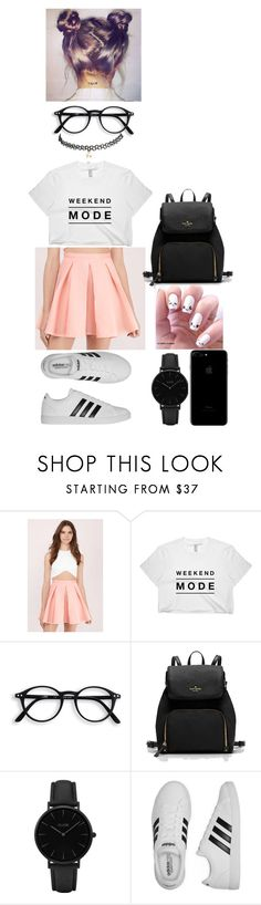 """""""Party"""" by filipa-oliveira-lipa ❤ liked on Polyvore featuring Tobi, CLUSE, adidas and Wet Seal"""