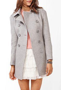 Wool-Blend Pea Coat | FOREVER21 - 2027706172