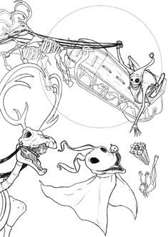 Download Nightmare Before Christmas Coloring Pages | omg halloween ...